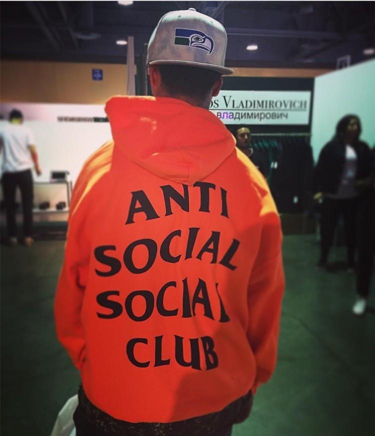 Толстовка с принтом Anti Social social club Paranoid Undefeated