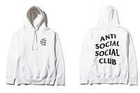 "Толстовка с принтом A.S.S.C. ""Anti Social Social Club Games""   Худи белая"