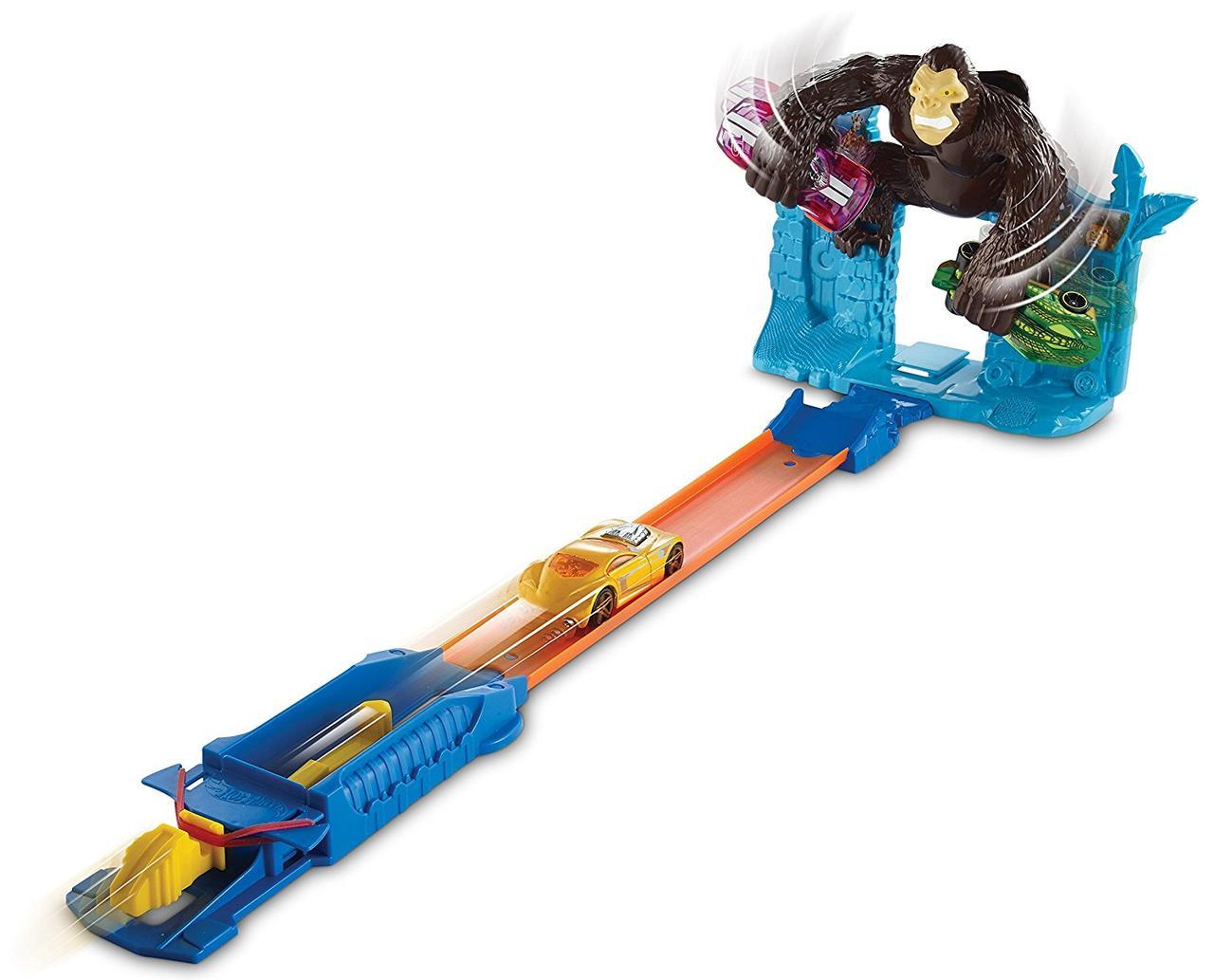 Трек Хот Вилс Побег от Гориллы Hot Wheels Gorilla Getaway Track Set