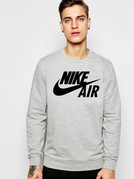 Мужской Свитшот Nike Air серый
