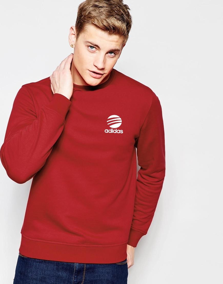 """Мужской Свитшот """"Adidas"""" красный"""
