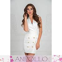Модное платье с пуговицами в расцветках