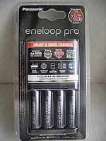 Зарядное устройство Panasonic Eneloop BQ-CC55E Quickcharger + 4 АА аккумулятора Panasonic Eneloop 2500 BK 3HCD