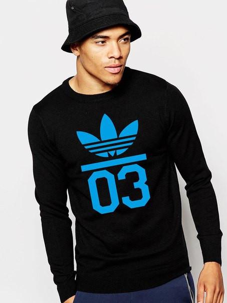 """Мужской Свитшот """"Adidas 03"""" черный"""