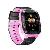 UWatch Детские часы Smart GPS Y21(2vers.) Purple(+Гарантия)