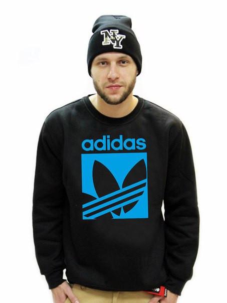 """Мужской Свитшот с принтом """"Adidas"""" черный"""