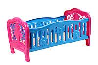 Кроватка для куклы пластмассовая 4517 Технокомп Украина