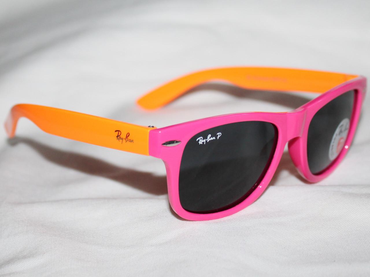 ... 690cb2d2ad5 Очки детские Ray Ban Wayfarer P974 розовый оранжевый  поляризационные реплика - IF-Style в ... 65da364ec22d5