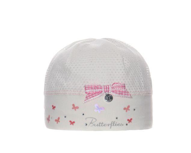 Детская летняя шапочка для девочек Бабочки от Marika Польша
