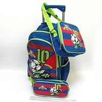 "Чемодан-рюкзак на колесах 16""+сумка+пенал Футбол, DSCN0470"