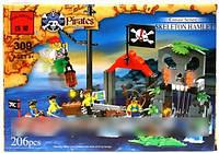 Конструктор Brick 309 Бухта Пиратов 196 деталей