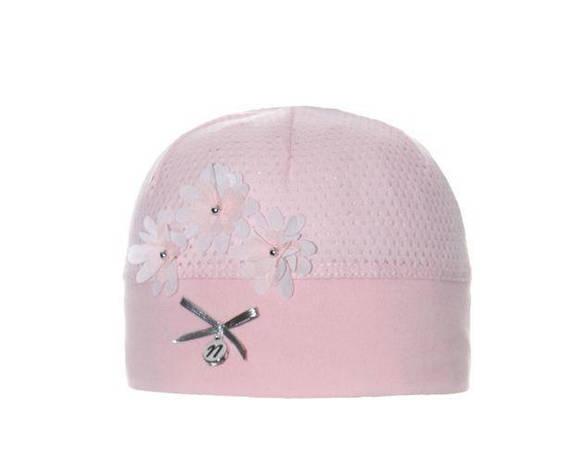 Перфорована дитяча літня шапочка для дівчаток від Marika Польща, фото 2