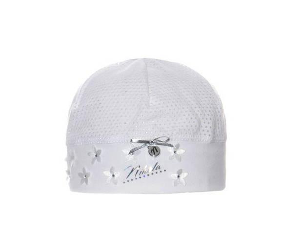 Перфорована дитяча легка шапочка для дівчаток від Marika Польща, фото 2