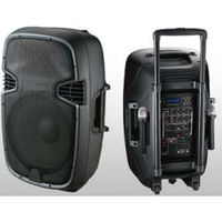Акустика портативная с микрофонами JB12-RECHARG 300W-Max (MP3/FM/Bluetooth/Аккумулятор)