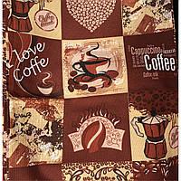 Полотенце льняное с кофейной тематикой