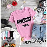 Женская футболка Дживанши Givenchy с дырками ткань вискоза розовая