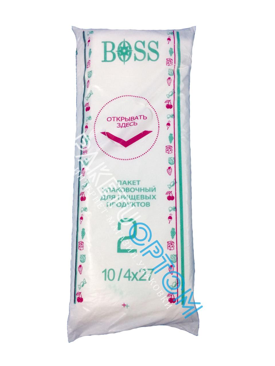 Полиэтиленовые пакеты в пластах Boss№2 размер10/4х27