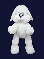 """Мягкая игрушка Зайчишка """" Снежок"""" белый, высота 65 см"""