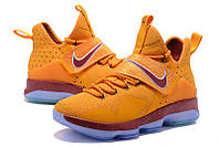 Мужские баскетбольные кроссовки Nike LeBron 14 (Yellow/Maroon/Grey), фото 1
