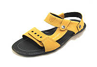 Сандалии-шлепанцы мужские HILFIGER кожаные  желтые (р.42,43,44,45)