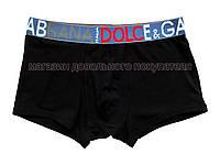 Мужские трусы боксёры Dolce Gabbana D&G чёрные