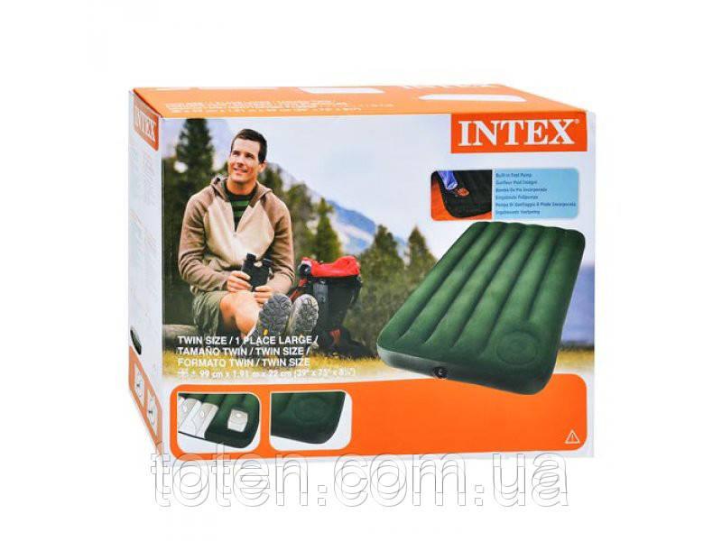 Велюр матрац со встроен ножным насосом INTEX 66927
