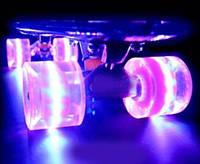 Скейт Пенни борд (Penny board) со светящимися колесами 466-1077 КК