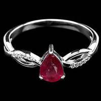 Рубин, серебро 925, кольцо, 466КР