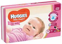 Подгузники Huggies Ultra Comfort 3 (5-9 кг) для девочек 56 шт., фото 1