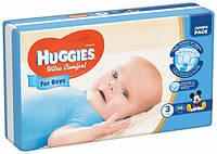 Подгузники Huggies Ultra Comfort 3 (5-9 кг) для мальчика 56 шт., фото 1