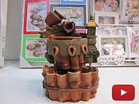 Декоративный настольный фонтан водопад кувшин источник. Артикул 10539