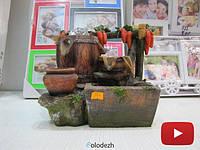Декоративный фонтан водопад с морковками. Артикул 3036