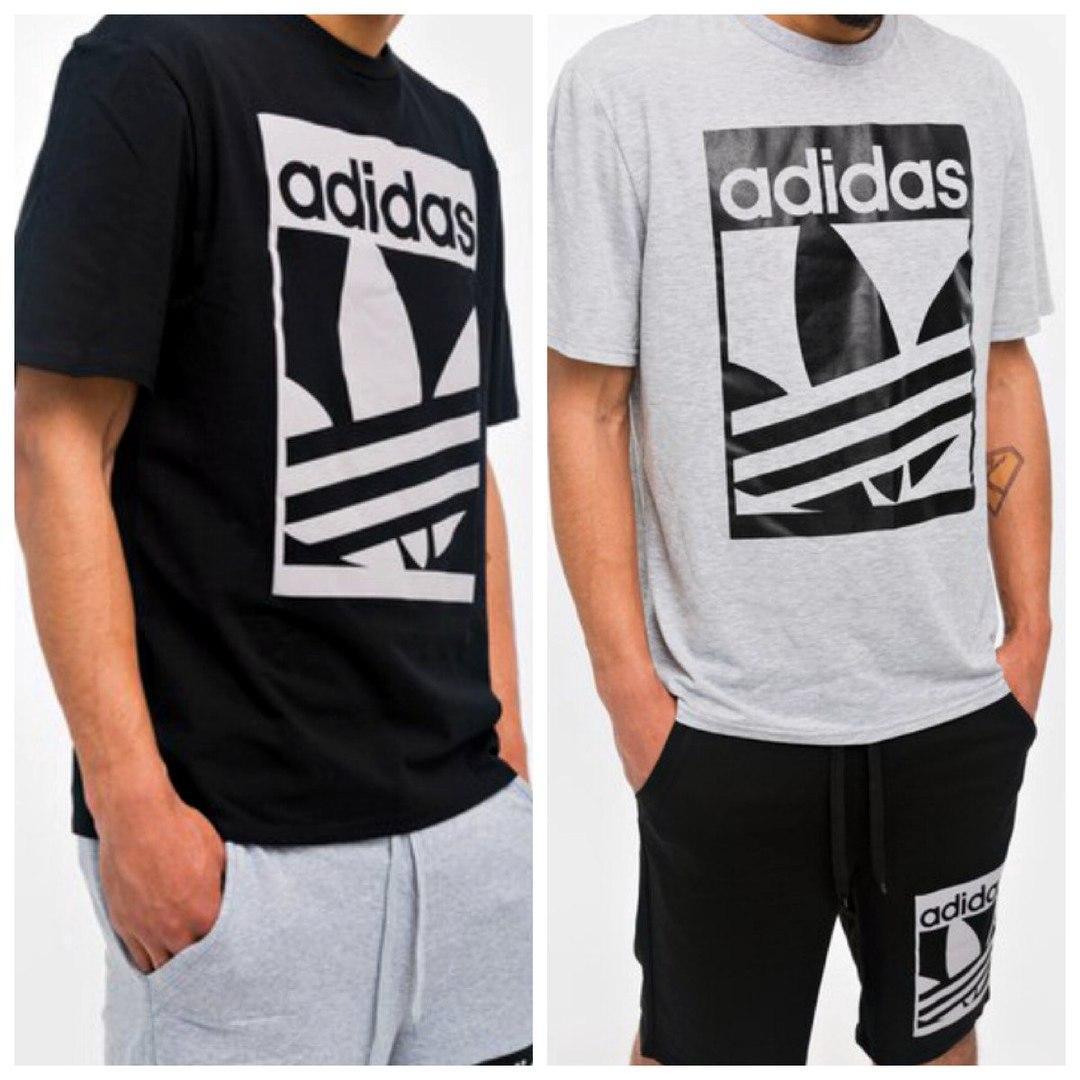 bc99d150aab Мужская спортивная футболка adidas. Ткань  двух нитка. Размер  S