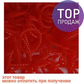 Резинки для плетения Loom Bands, красные с пупырышками (жемчужные) 300 шт. / Резинки для плетения браслетов