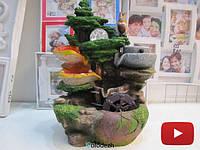 Настольный декоративный фонтан водопад с белочкой. Артикул 8600