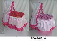 Игрушечная кроватка - люлька с балдахином, Melobo 9376 SR