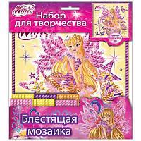 Набор для творчества блестящая мозаика 5550-02 «Флора.7 Винкс» 13159066Р