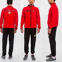 Мужской спортивный костюм Porsche. Ткань: дайвинг. Размер: S, M, L, XL. Цвет:  черный, красный.