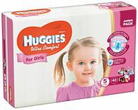 Подгузники Huggies Ultra Comfort 5 (12-22 кг) для девочек 42 шт., фото 1