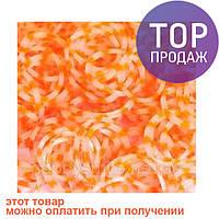 Резинки для плетения браслетов Loom Bands, оранжевые в белую крапинку 500 грам /Резинки для плетения браслетов