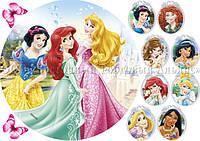 Печать съедобного фото - Ø21 - Вафельная бумага - Принцессы №31
