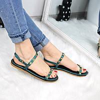 Босоножки женские Stella зеленые 3308 , летняя обувь