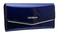 Кожаный женский кошелек BC35 blue