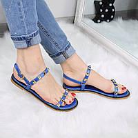 Босоножки женские Stella синие 3310 , летняя обувь