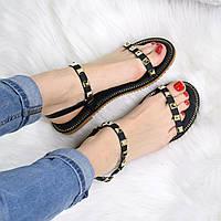 Босоножки женские Stella черные 3307, летняя обувь