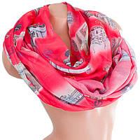 Красивый женский шифоновый шарф 180 на 70 см HAS (ХАС) SAT17585 красный