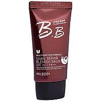 Mizon, Улиточный восстановительный бальзам от пятен, крем BB с фактором защиты от солнца SPF 32,
