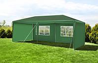 Садовый павильон, Палатка 3x6м + 6 стенок, зеленый PE