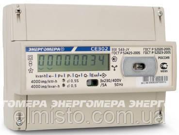 Электросчетчик Энергомера CE 302 R31 745 J 5(60)А, 3-х фазный, 230/400 В, ЖКИ, актив-реактив