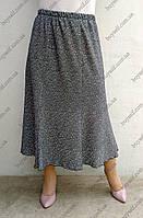 Женская юбка Орхидея больших размеров серого цвета